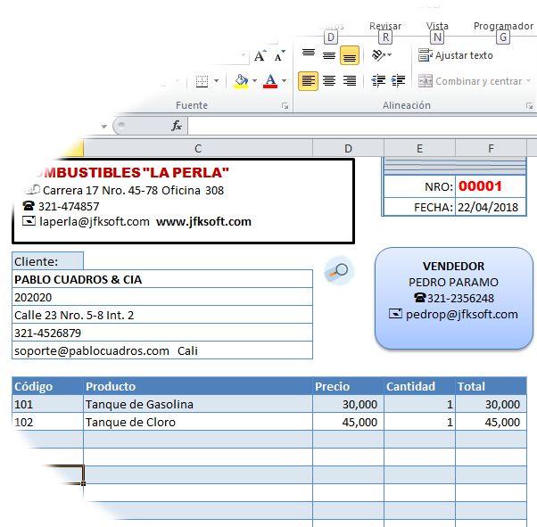 Factura Excel JFKSOFT